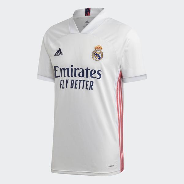 Camisa Real Madrid I 20/21 - Adidas Masculino - Branco - Real Madrid 20 21 Home Jersey White FM4735 FM4735 01 laydown grande 1